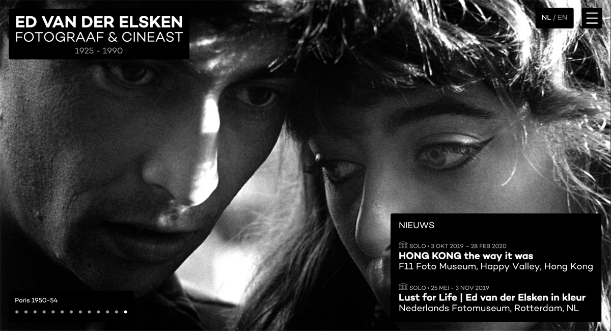 Production website Ed van der Elsken