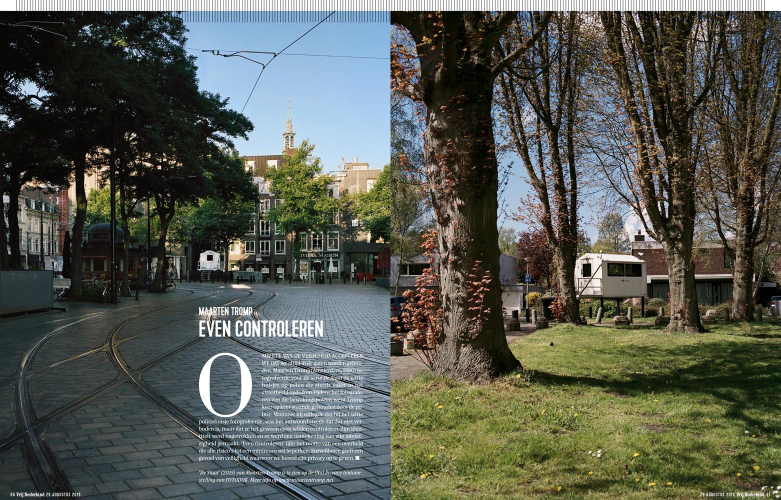 Publication Vrij Nederland #35 fotospecial, 29 augustus 2015